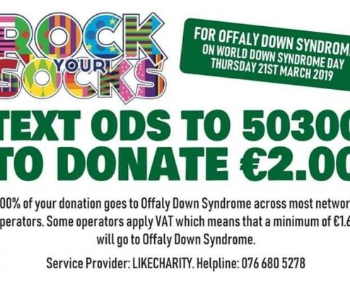 Dont Forget to Rock your Socks off today for Offaly Down Syndrome #RockuourSocks #ODS