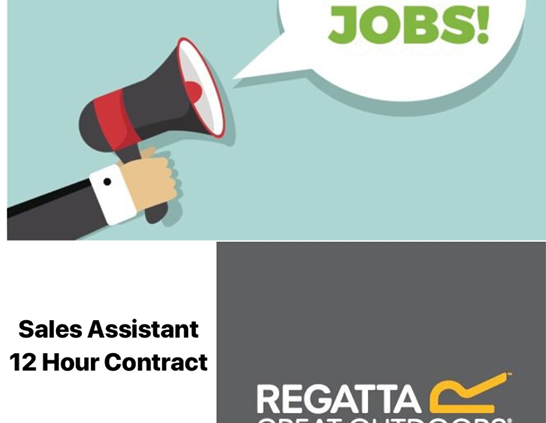 **JOB ALERT!!** Regatta Tullamore are now Recruiting for the following position; Sales Assistant-12 hour…