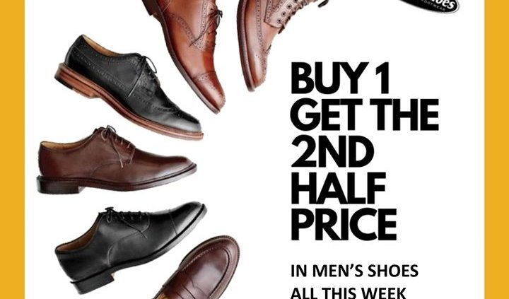 There are TWO fantastic offers happening this week in Paul Byron Shoes. 20% off…