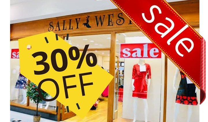 The Sale at Sally West in The Bridge Centre Tullamore more is on now…