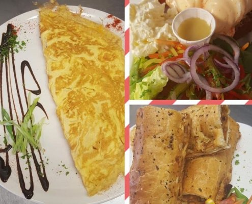 On the menu today Cafe 4 U have Omelettes, Homemade Vegetarian Sausage Roll &…
