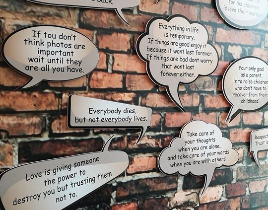 Loving the new inspirational wall upstairs in the Bridge Shopping Centre #mentalhealth