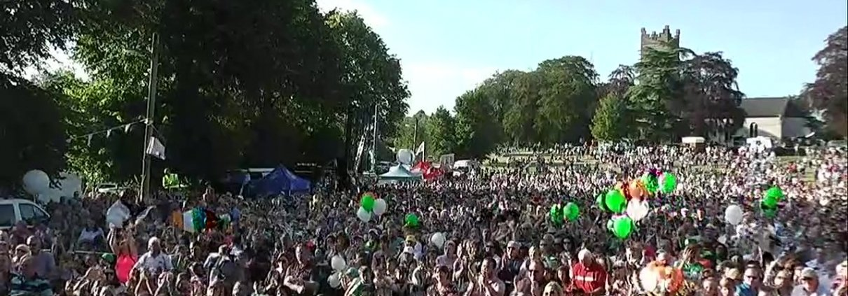 Amazing turnout for Shane Lowry