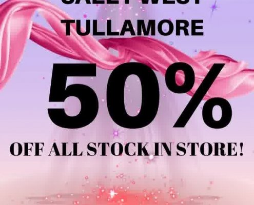 **SALLY WEST HALF PRICE SUMMER SALE IS NOW ON!!** 50% OFF ALL STOCK IN…
