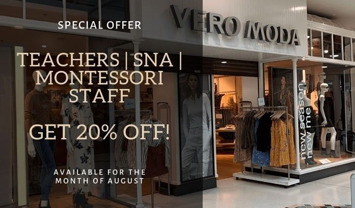 Don't miss the amazing offer to all Teachers, SNAs or Montessori Staff at Vero…