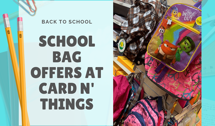 Schools just around the corner! Cards N Things have some fantastic School Bags available…